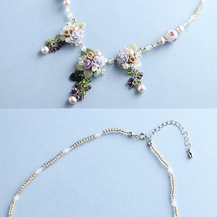 薔薇とブドウのネックレス  【作家:NARUMIDO】