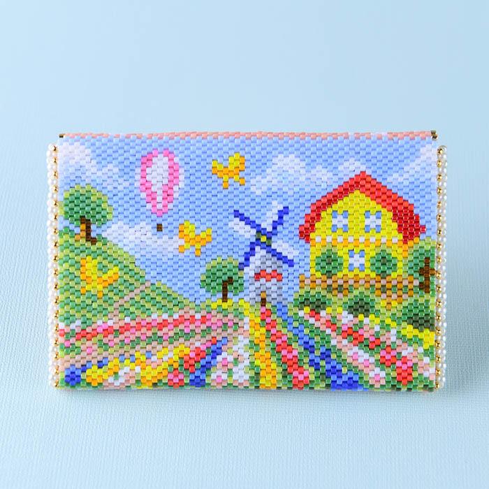 ★2/17 NEW★ ミニポーチ〜Spring Landscape〜  ビーズマニア