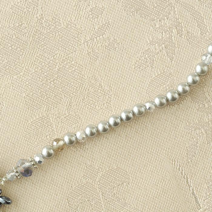 ビーズブーケネックレス(ミッドナイト)  c-18002 【作家:Miki Kanai(Beads mode C'est la vie)】