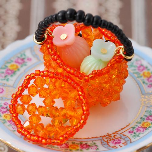 かぼちゃのバスケットキット  【作家:ちばのぶよ】