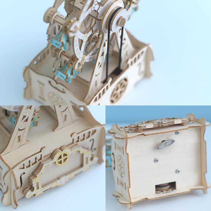 立体パズル 木製 ki-gu-mi オルゴール付き 観覧車