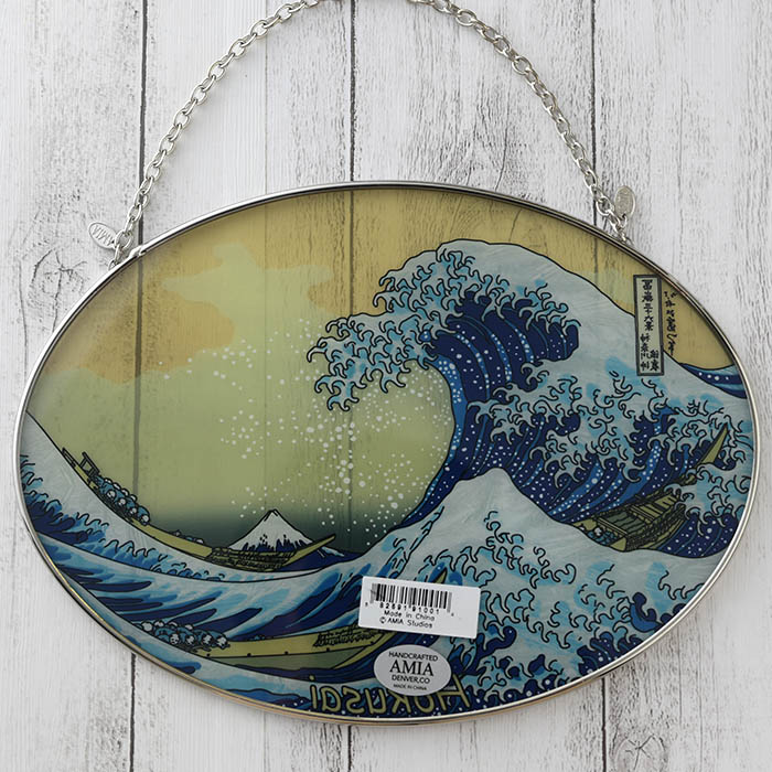 ステンドグラス サンキャッチャー おしゃれ 壁掛け Hokusai  1001LO