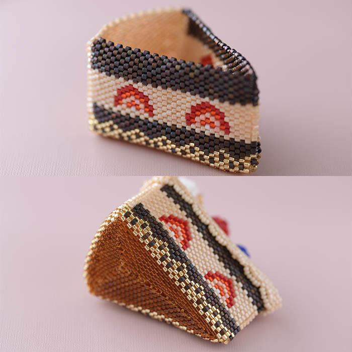 ステッチボックス〜チョコケーキ〜  ビーズマニア