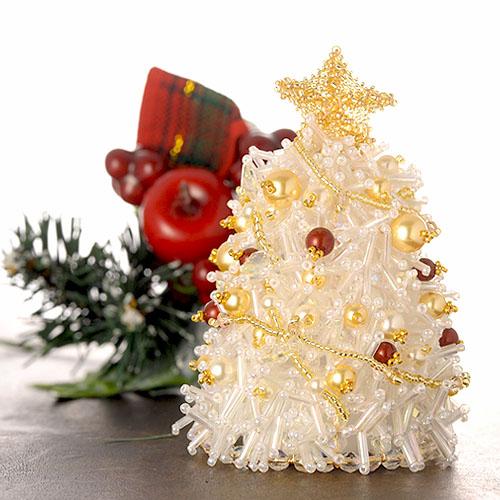 メルヘンホワイトクリスマスツリーキット  【作家:渡辺七重(N℃)】