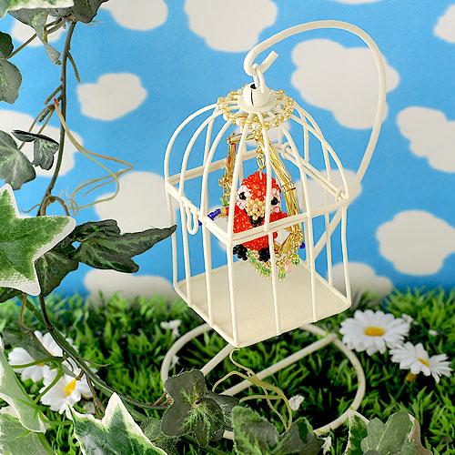 カラフルオウムのちいさな鳥かご ビーズマニア