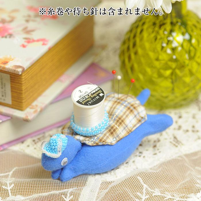 ピンクッション&糸巻スタンド ダニエルくん  【作家:渡辺七重(N℃)】
