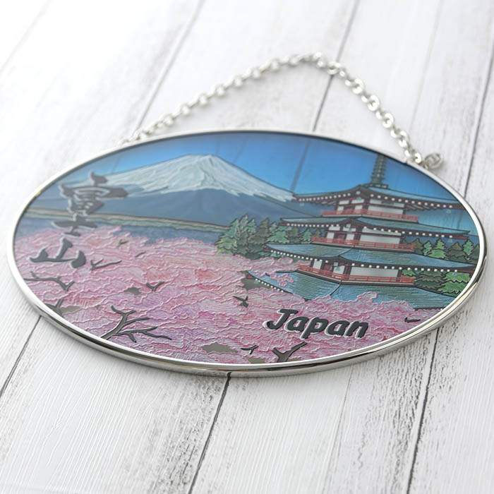 ステンドグラス サンキャッチャー おしゃれ 壁掛け Mt.Fuji  1003MO