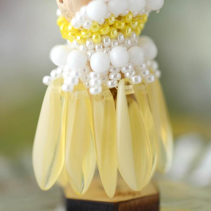 ビーズステッチで作るハニカムトルソードレス〜ティアレ・イエロー〜  【作家:漆原昌美(Mai My Beads)】