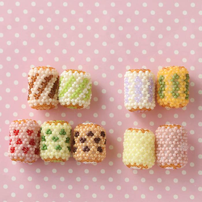 ★8/4 単品販売開始★ ビーズで編みぐるみ〜ロールケーキタワー〜  【ビーズマニア】