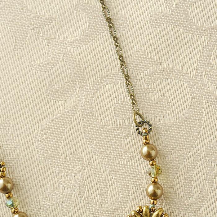 プチブーケネックレス〜Sophia〜(ターコイズ) c-18006 【作家:Miki Kanai(Beads mode C'est la vie)】