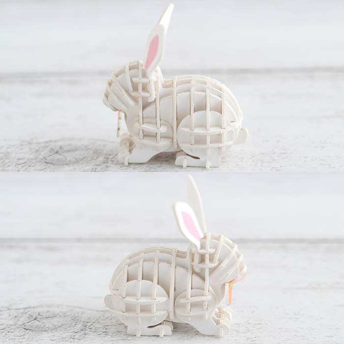 立体パズル 工作 キット si-gu-mi PLUS ウサギ