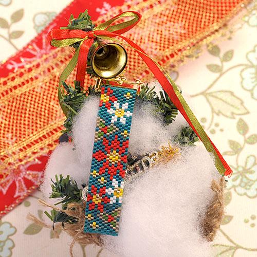 クリスマス☆ストラップ(ポインセチア)  S-41 【作家:Shinon あわいしのぶ】