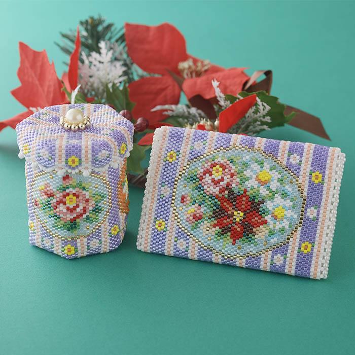 ステッチボックス〜Winter flowers〜  ビーズマニア