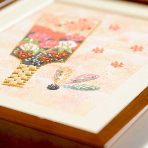 ビーズファクトリー 〜Beads Decor〜羽子板(睦月・1月) ※額は別売り BHD-84