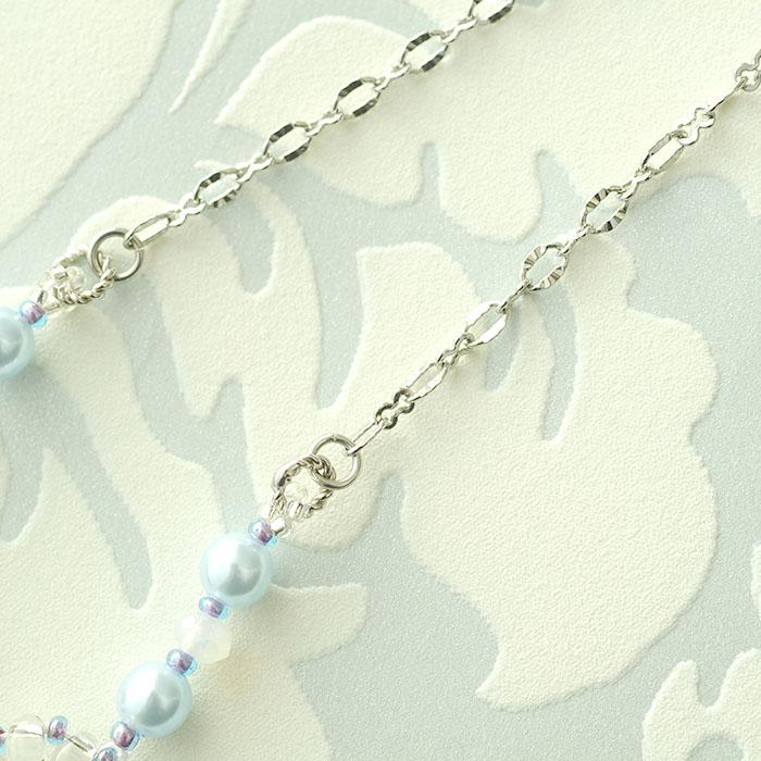 プチブーケネックレス〜Summer Sophia〜(グリーン) c-18008 【作家:Miki Kanai(Beads mode C'est la vie)】