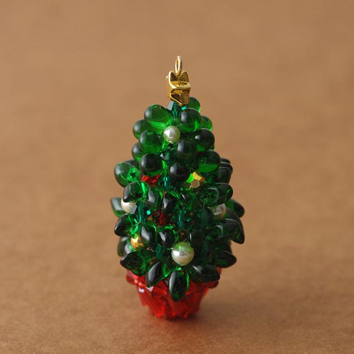 ぷっくりガラスのクリスマスツリー グリーン 【作家:ちばのぶよ】