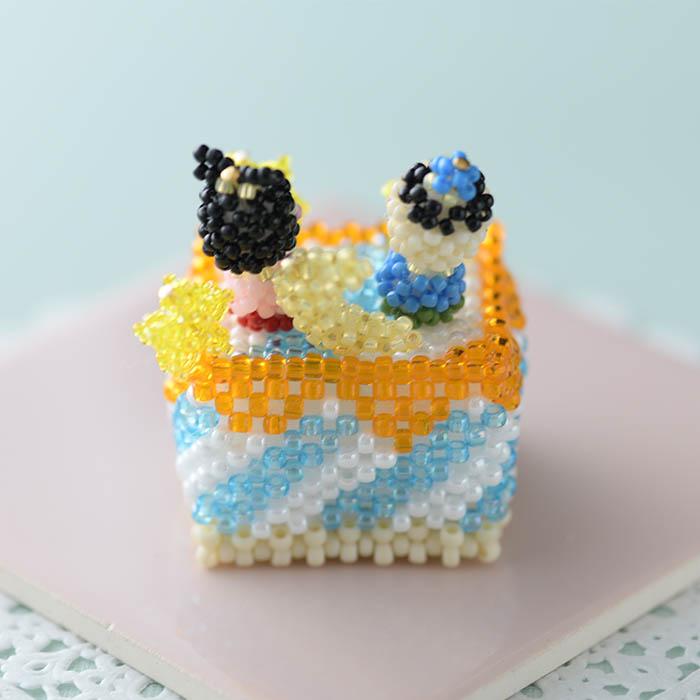 ビーズで編みぐるみ・カットケーキ〜No4. 七夕〜 ビーズマニア