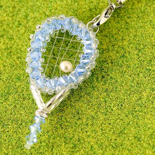 テニスラケットVol.2ストラップキット(ブルー) 【作家:渡辺七重(N℃)】
