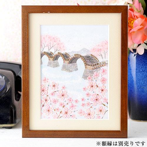 【現在庫分☆限定SALE中】 ビーズファクトリー 〜Beads Decor〜桜と橋(弥生・3月) ※額は別売り BHD-86