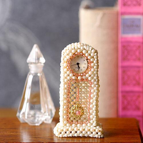 フレンチ・ファニチャー2点セット(チェスト&ボンボン時計) ビーズマニア
