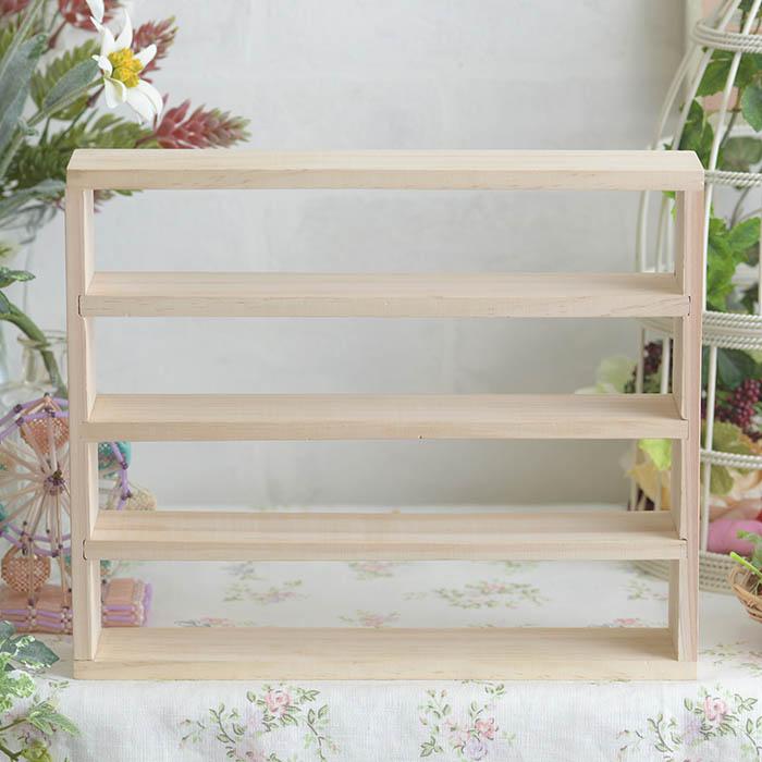 【お取り寄せ商品】 4段 木製ディスプレイ WB006