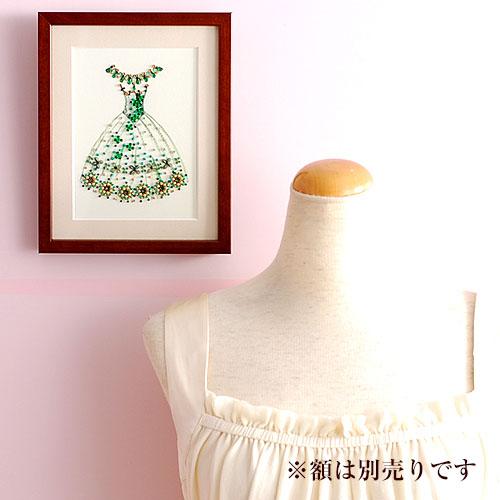 ビーズファクトリー 〜Beads Decor〜花のワルツ(ドレス) ※額は別売り BHD-29