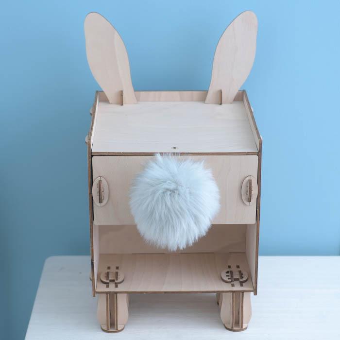 立体パズル 木製 【現在庫分☆限定SALE中】 ki-gu-mi Living ウサギ サイドチェスト