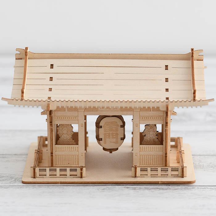 立体パズル 木製 ki-gu-mi 雷門