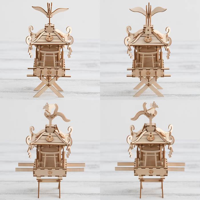 立体パズル 木製 ki-gu-mi 神輿