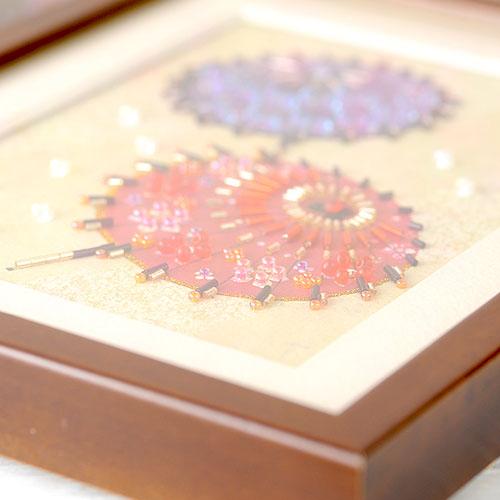 ビーズファクトリー 〜Beads Decor〜和傘(水無月・6月) ※額は別売り BHD-89