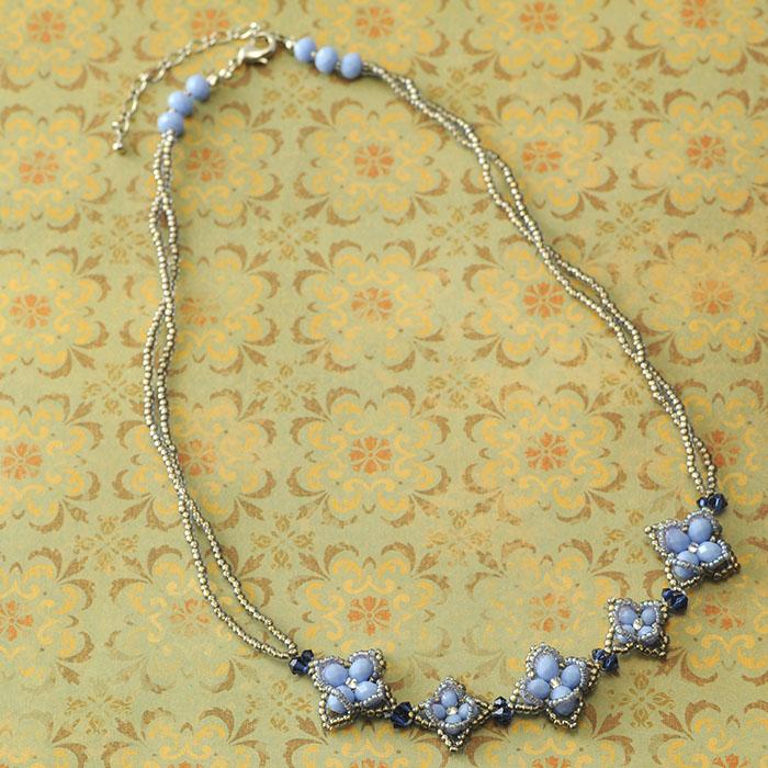 ソフィー ネックレス(ブルー)  N-144a 【作家:Shinon あわいしのぶ】