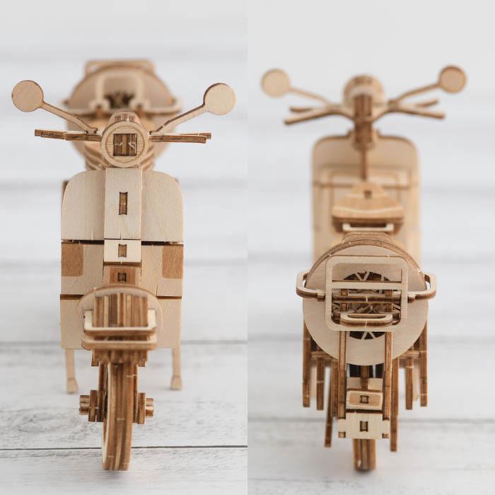 立体パズル 木製 ki-gu-mi スクーター