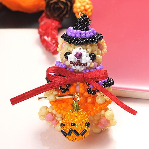 テディベアシリーズ〜ハロウィンパーティー女の子〜  ビーズマニア