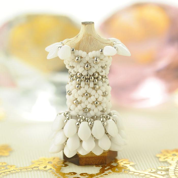 ビーズステッチでつくるハニカムトルソードレス〜ジェーン・シルバー〜 【作家:漆原昌美(Mai My Beads)】