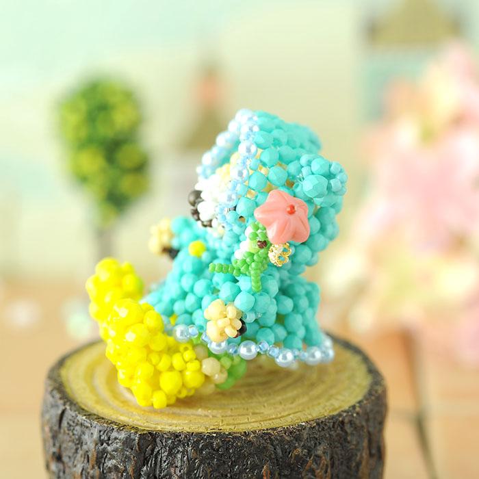 テディベアシリーズ〜雨の日・男の子〜  【ビーズマニア】