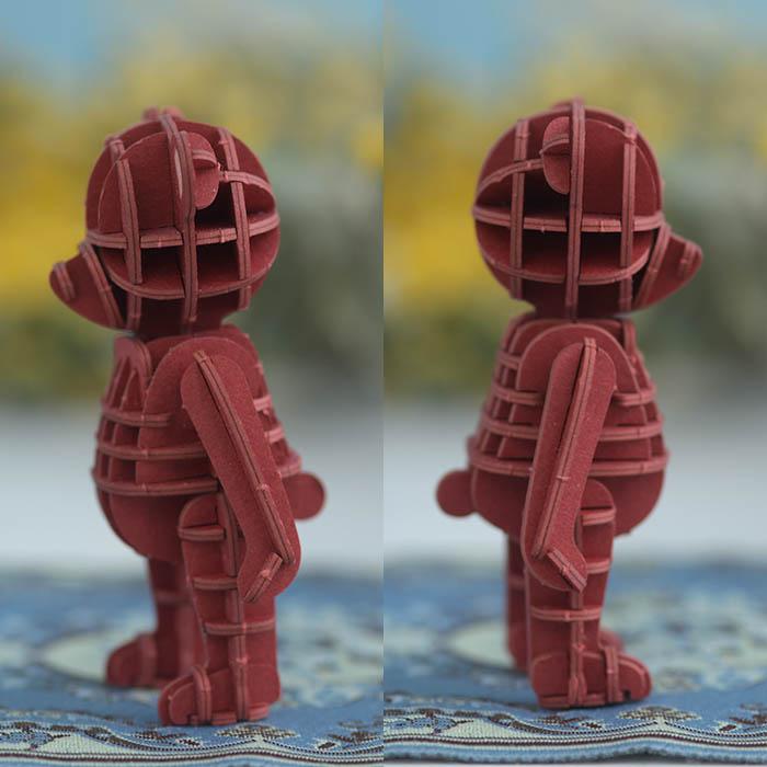 立体パズル 工作 キット si-gu-mi PLUS  テディベア レッド