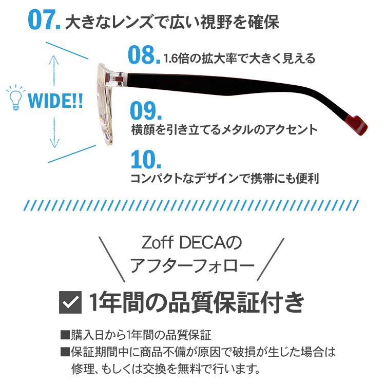 Zoff DECA 正規品 メガネ型ルーペ 1.6倍