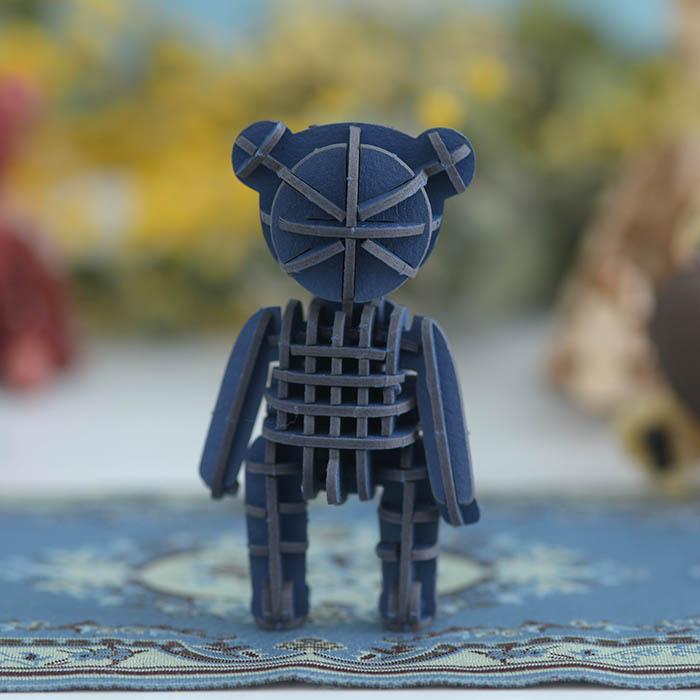 立体パズル 工作 キット si-gu-mi PLUS  テディベア ブルー