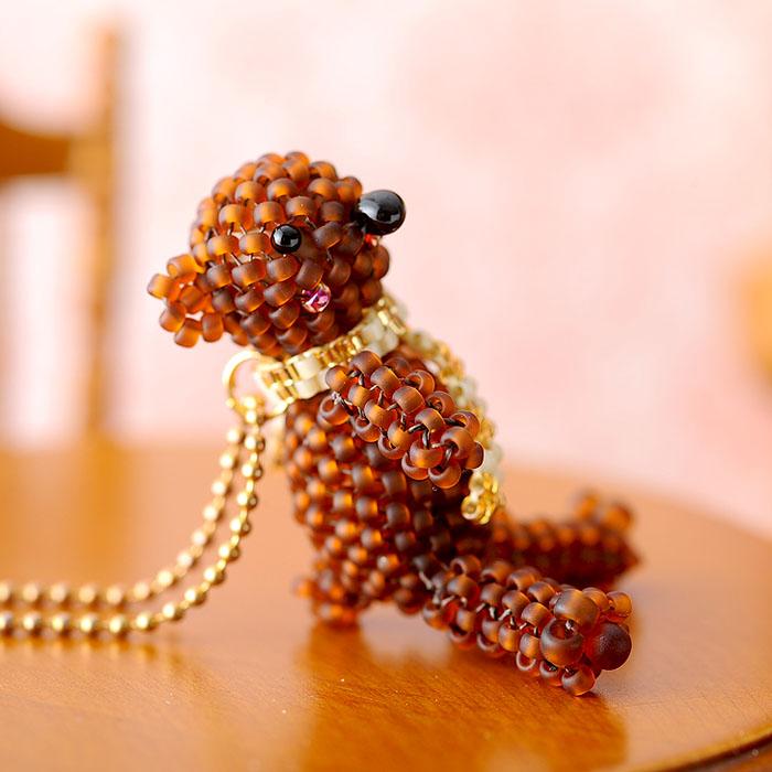 """リルビーベア〜On beads stich〜  【作家:しのはらみわ(Little""""B"""".)】"""