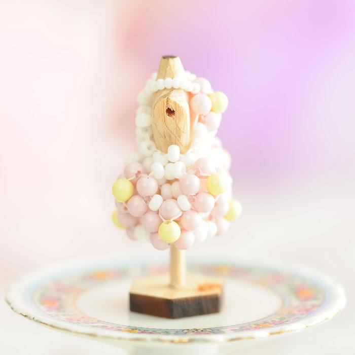 ☆3/5 再入荷☆ ビーズステッチで作るハニカムトルソードレス〜ソフィア・ピンク〜  【作家:漆原昌美(Mai My Beads)】