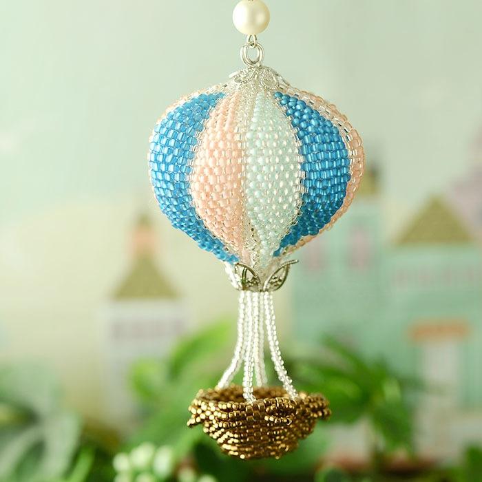 気球のバッグチャーム  S-63 【作家:Shinon あわいしのぶ】
