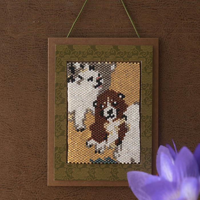 ホビックス 応挙・子犬図飾り  PB-89