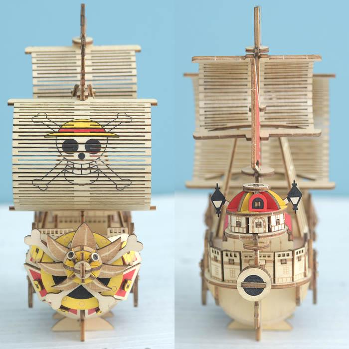 立体パズル 木製 ki-gu-mi ワンピース サウザンド・サニー号