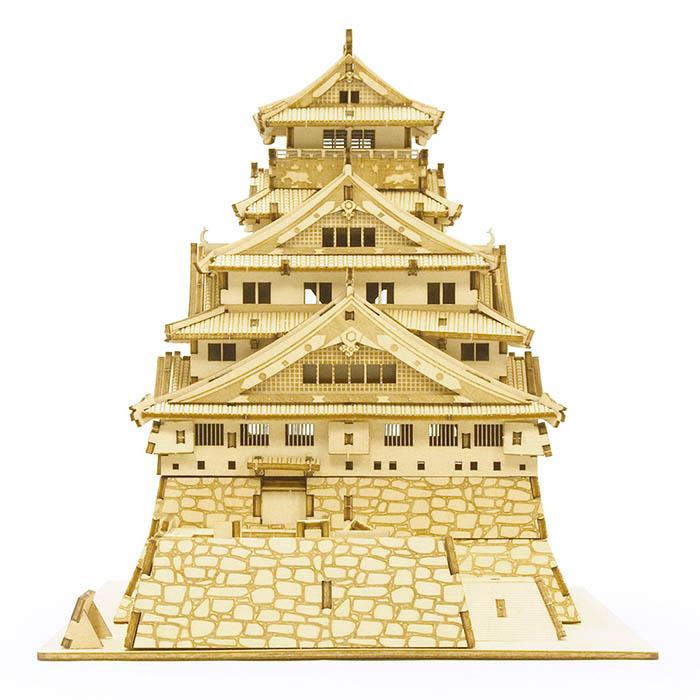 立体パズル 木製 ki-gu-mi 大阪城