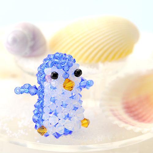 ペンギン(ブルー)  【作家:ちばのぶよ】
