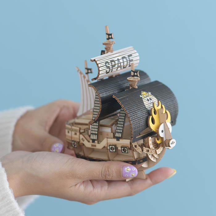 立体パズル 木製 ki-gu-mi ワンピース スペード海賊団の海賊船
