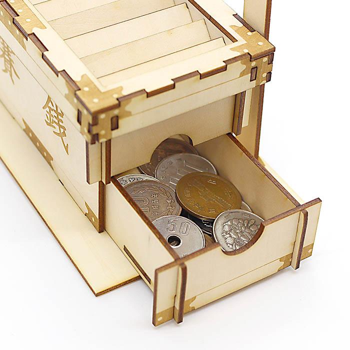 立体パズル 木製 ki-gu-mi 賽銭貯金箱