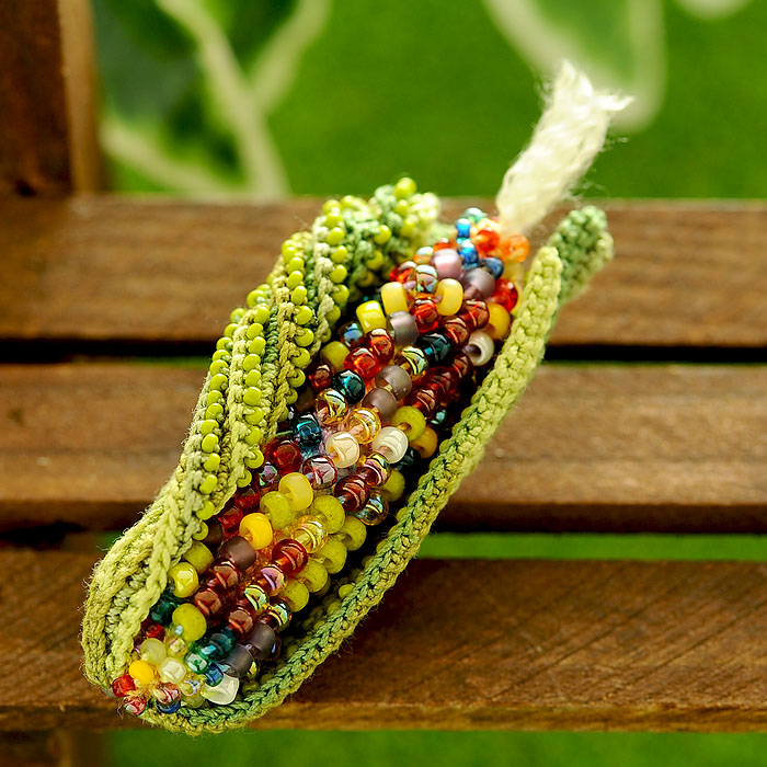 Corn(トウモロコシ)ブローチ ミックス 【作家:芝裕子(Atelier Siva)】