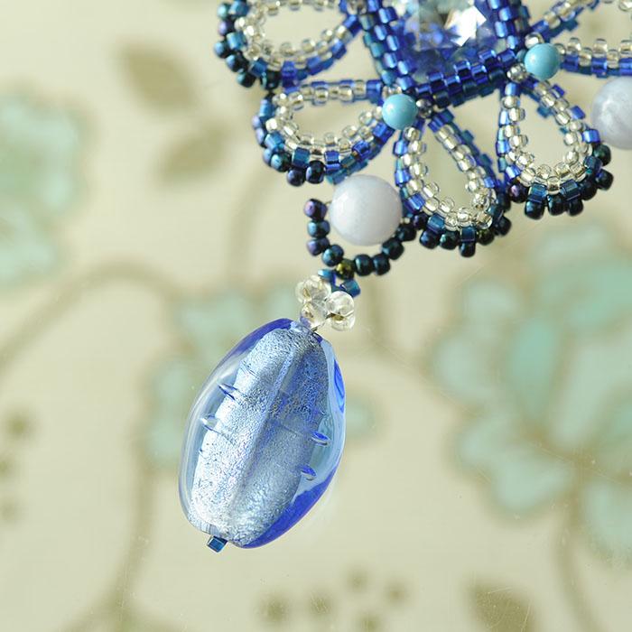 海の花ネックレス  N-156 【作家:Shinon あわいしのぶ】