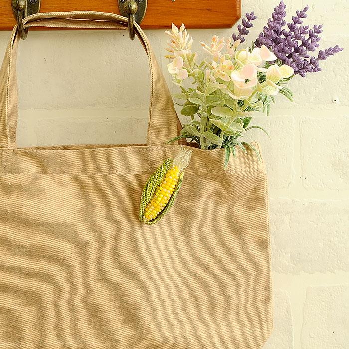 Corn(トウモロコシ)ブローチ 3色セット 【作家:芝裕子(Atelier Siva)】